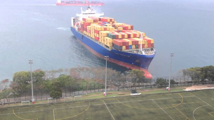 Like turning a container ship